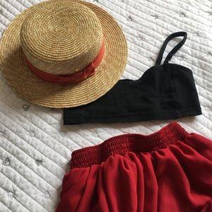 Disney straw hat (never worn)